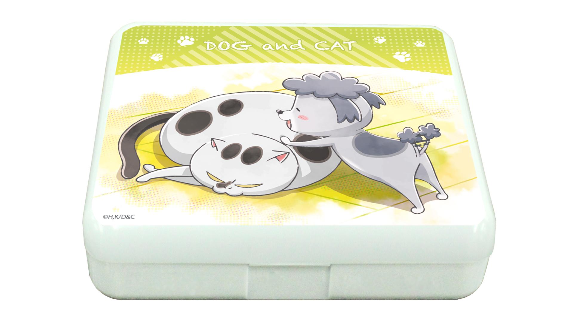 小物ケース(ラムネ付き)「犬と猫どっちも飼ってる毎日たのしい」01/犬くん&猫さま